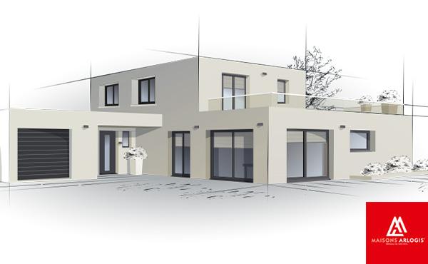 Terrain constructible + maison à Biltzheim