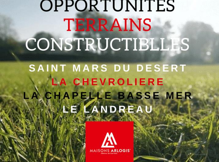 Opportunités de terrains constructibles à saisir vite !!!