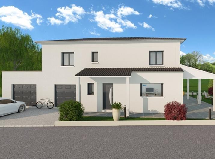 Projet maison contemporaine à reprendre