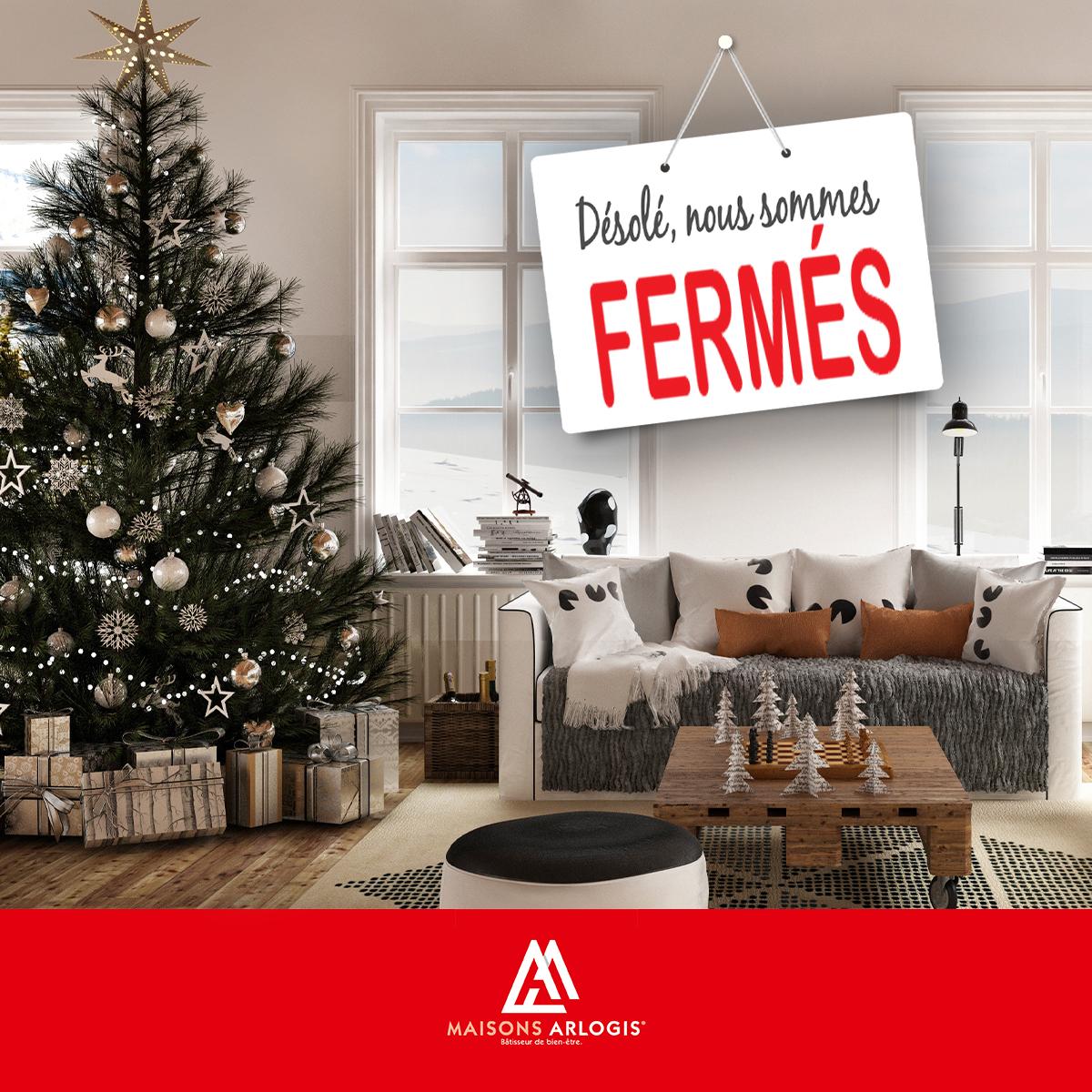 Fermeture pour Noël et Nouvel An