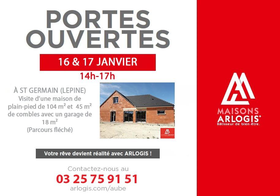 Portes ouvertes les 16 & 17 janvier à Saint Germain (Lépine) de 14 h à 17 h