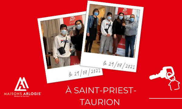 Remise de clés à Saint-Priest-Taurion 🔑