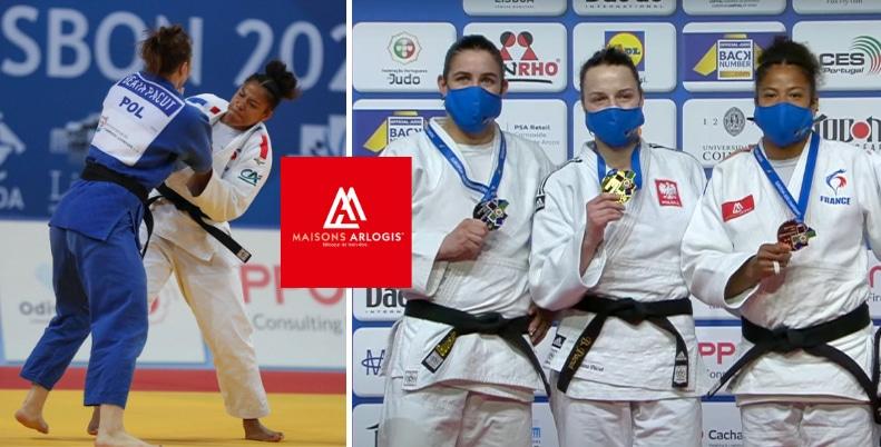Fanny-Estelle POSVITE sur le podium du Championnat d'Europe de Judo 2021