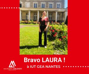 Bravo à Laura pour sa performance lors de sa soutenance de stage !