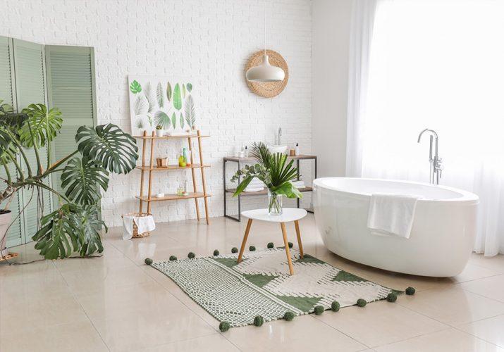Tendances salle de bain 2021, les plantes