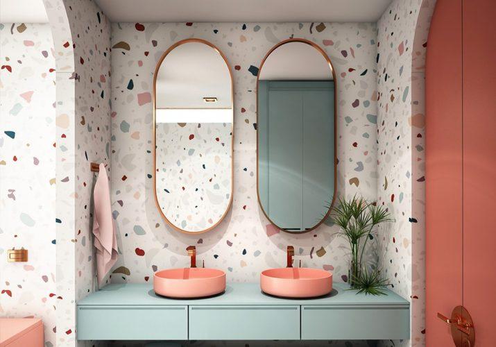 Tendances salle de bain 2021 le terrazzo